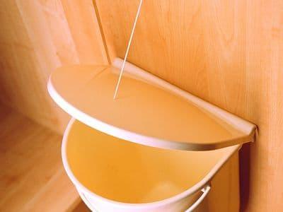 Door mounted waste bin, 12 ltr, almond